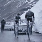 Graziano Battistini Cipa Coppi'yi ilk geçen bisikletçiydi, Passo dello Stelvio, Giro d'Italia 1965 (Fotoğraf: gazzetta.it)