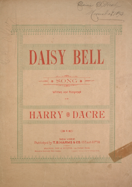 daisy bell harry dacre