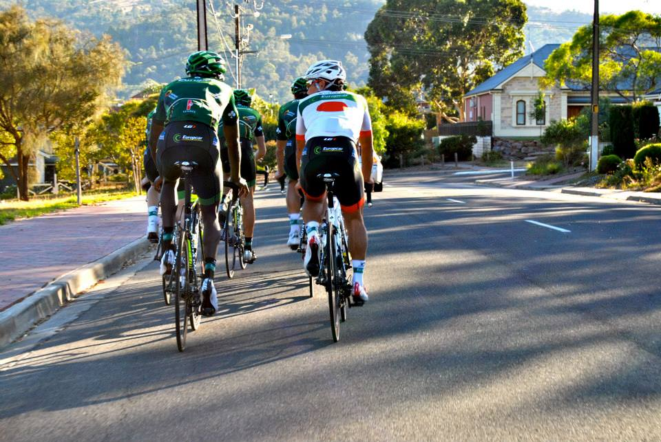 Europcar Tour Down Under training