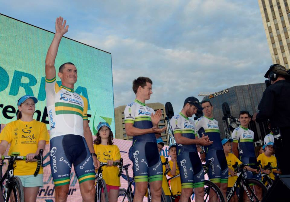 tour down under 2014 Simon Gerrans, Simon Clarke, Matt Goss, Mathew Hayman, Daryl Impey