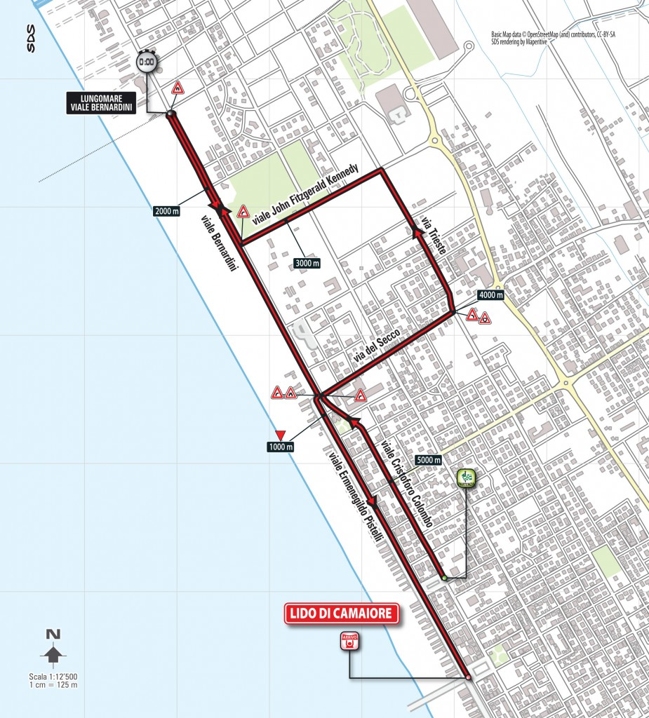 Tirreno - Adriatico 2015 prologue map