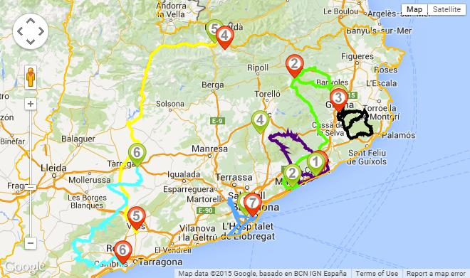 Volta Ciclista a Catalunya 2015 - harita